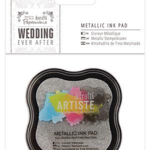 Штемпельная подушечка Wedding серебристый металлик