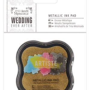 Штемпельная подушечка Wedding золотой металлик