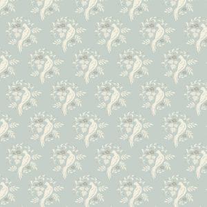 Ткань Тильда Bird blue grey отрез 27х50 см