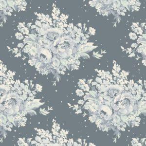 Ткань Тильда Summer Floral Blue отрез 27х50 см