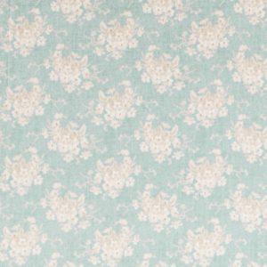 Ткань Тильда White Flower teal отрез 27х50 см