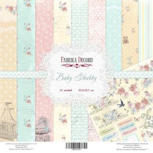 Набор скрапбумаги Baby Shabby 30x30 см ТМ Фабрика Декору, артикул FDSP-01011