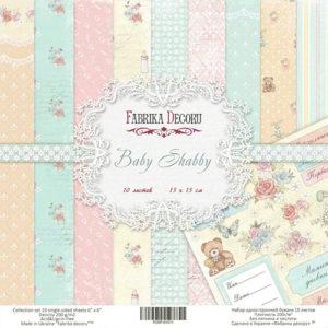 Набор скрапбумаги Baby Shabby 15x15 см ТМ Фабрика Декору, артикул FDSP-02011