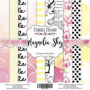 Набор скрапбумаги Magnolia Sky 20x20 ТМ Фабрика Декору, артикул FDSP-02013