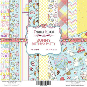 Набор скрапбумаги Bunny birthday party 30x30 ТМ Фабрика Декору, артикул FDSP-01015