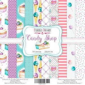 Набор скрапбумаги Candy Shop 20x20 ТМ Фабрика Декору, артикул FDSP-02017