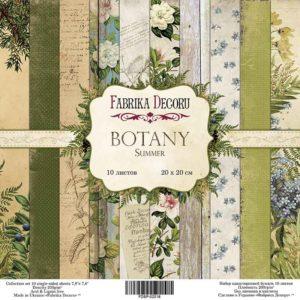 Набор скрапбумаги Botany summer 20x20 ТМ Фабрика Декору, артикул FDSP-02018