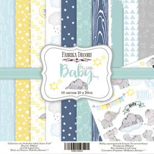 Набор скрапбумаги My little baby boy 20x20 ТМ Фабрика Декору, артикул FDSP-02023