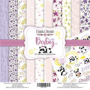 Набор скрапбумаги My little baby girl 30x30 ТМ Фабрика Декору, артикул FDSP-01024