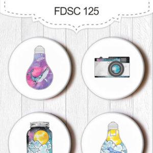 Скрапфишки Набор Enjoy freedom (лампочки) FDSC 125