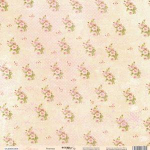 Лист Розочки из коллекции Карамель Scrapmir