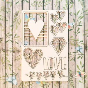 Набор чипборда Love is...
