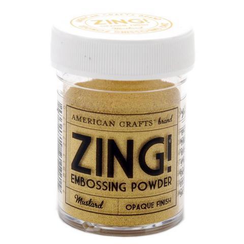 27137 Пудра для эмбоссинга матовая ZING Горчичный American Crafts