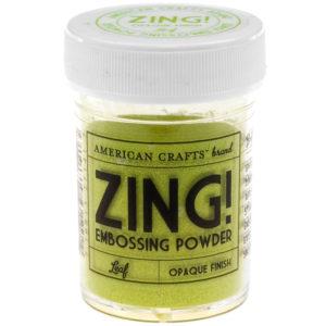 27141 Пудра для эмбоссинга матовая ZING Зеленая листва American Crafts