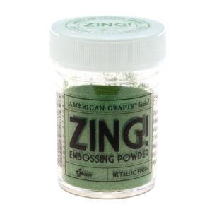 27164 Пудра для эмбоссинга матовая ZING Зеленый American Crafts