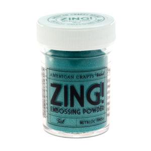 27165 Пудра для эмбоссинга матовая ZING Зеленовато-голубой American Crafts