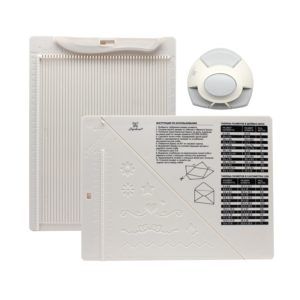 DDB-K01 Доска для создания конвертов и открыток в комплекте с дыроколом угла