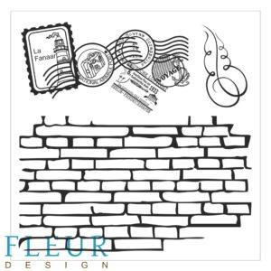 FD4010011 Набор штампов Стена с марками