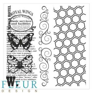 FD4010010 Набор штампов Винтаж с бабочками