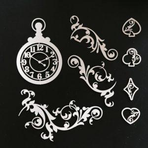 FD2025206 Набор чипборда Часы