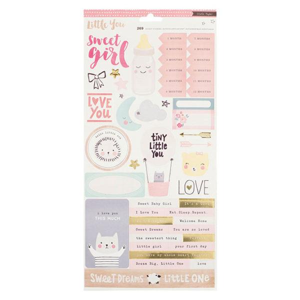 680393 Набор стикеров Little You от Crate Paper (girl)