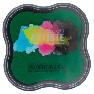 Подушка штемпельная пигментная, зеленый, DOA550101