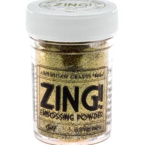 27150 Glitter Gold Zing! Пудра для эмбоссинга с глиттером American Crafts золотая