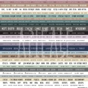 Лист Слова слова коллекция #Мастхэв Артелье, ARTMHС30-05