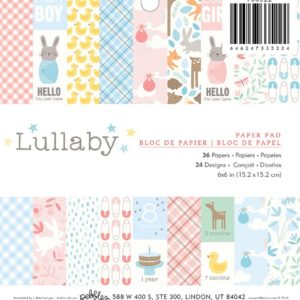 Набор бумаги Lullaby от Pebbles 15х15 см 733522