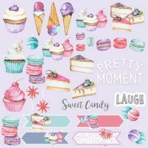 Лист для вырезания Candy shop (eng.) 02017-2en