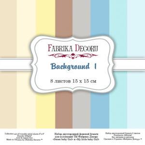 """Набор скрапбумаги """"Backgrounds 1"""", 15*15 ТМ Фабрика Декору FDSP-03001"""