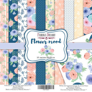 Набор скрапбумаги Flower mood 20*20 ТМ Фабрика Декору FDSP-02031