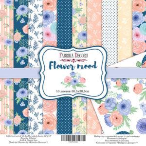 Набор скрапбумаги Flower mood 30*30 ТМ Фабрика Декору FDSP-01031