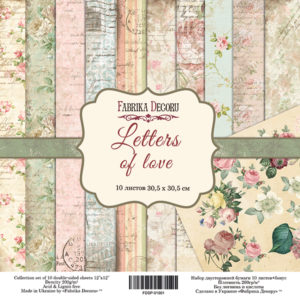 Набор скрапбумаги Letters of love 30*30 ТМ Фабрика Декору FDSP-01001