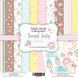 Набор скрапбумаги Sweet baby girl 20*20 ТМ Фабрика Декору FDSP-02027
