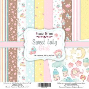 Набор скрапбумаги Sweet baby girl 30*30 ТМ Фабрика Декору FDSP-01027