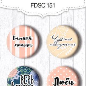 Скрапфишки Набор 151 Flower mood FDSC-151