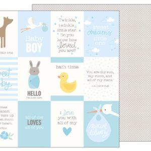 "Лист Baby Boy Quotes ""Lullaby"" от Pebbles 733496"