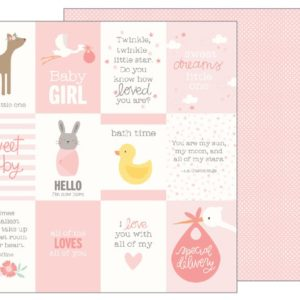 """Лист Baby Girl Quotes """"Lullaby"""" от Pebbles 733505"""