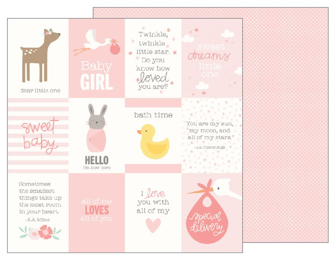 "Лист Baby Girl Quotes ""Lullaby"" от Pebbles 733505"
