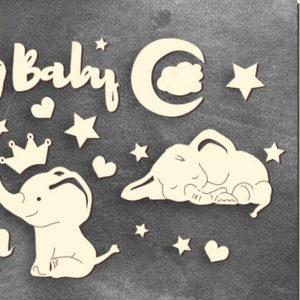 Золотой чипборд My little baby boy 1 FDCH-108-3