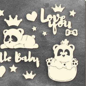 Золотой чипборд My little baby girl 1 FDCH-107-3