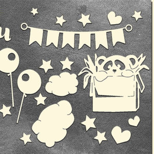 Золотой чипборд My little baby girl 2 FDCH-110-3