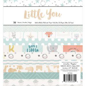 Набор бумаги Little You от Crate Paper 15х15 см (boy) артикул 680384