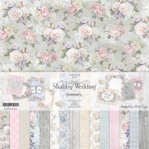 "Набор бумаги ""Shabby Wedding"" Summer Studio 30х30 см"