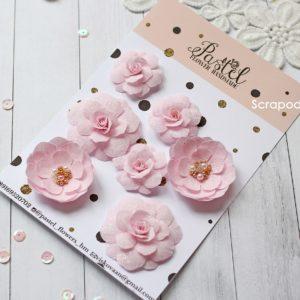 МР0001 Цветы ручной работы из ткани розовые