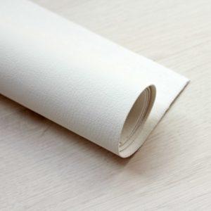 Белая экокожа, отрез 35*50 см, 0402