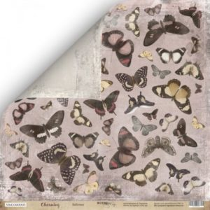Лист Бабочки коллекция Charming (Очарование) для скрапбукинга, артикул SM3300003