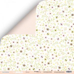 Лист Flowers коллекция Baby Doll для скрапбукинга, артикул SM3500004