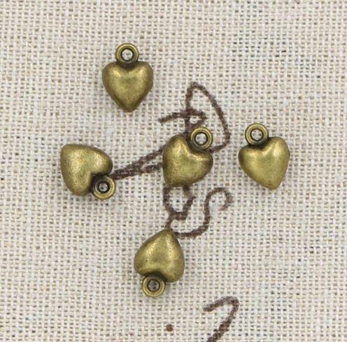 Металлическая подвеска сердечко (бронз.)